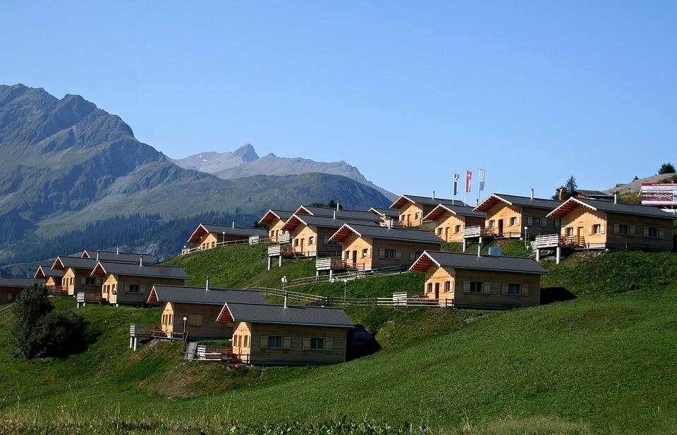 Urmein Switzerland Resort Mountains Hut Alpine Hut